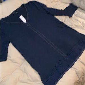 White House Black Market V neck blouse